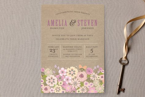 My newest design, Burlap Bouquet wedding invitations, in now available on Minted!    Burlap Bouquet Wedding Invitations by Laura Bolter Design at minted.com