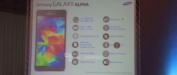 Spec sheet van de Samsung Galaxy Alpha