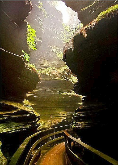 Witches Gulch, Wisconsin Dells, USA. >>> WOW. I need to take a road trip to all the hidden US places I find on Pinterest! This looks beautiful :)