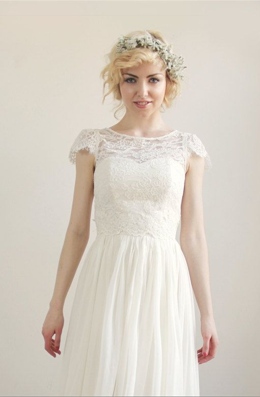 Alencon Lace Wedding Separate Augustine Top By Leanimal On Etsy
