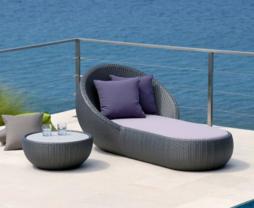 Outdoor Circle Chaise Lounger By Lebello Modern Furniture Is A Day Bed And