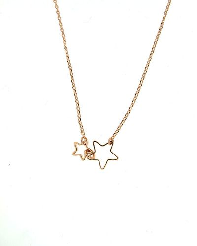 Double Star Necklace,,,love stars