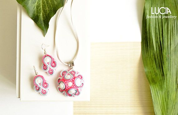 Check out this item in my Etsy shop https://www.etsy.com/listing/223720988/pink-and-white-soutache-set