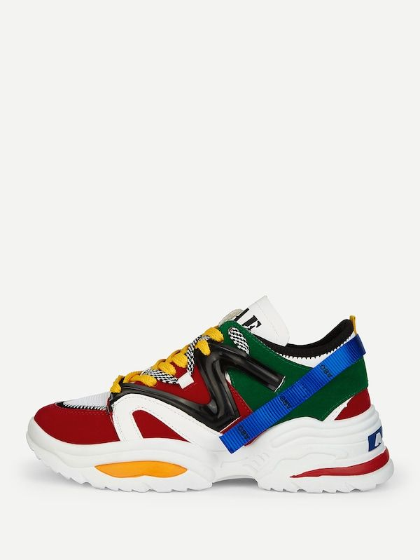 Men Lace up Suede Sneakers SheIn(Sheinside)