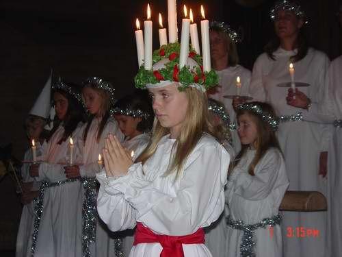 Danemark : fête de Sainte Lucie le 13 Décembre
