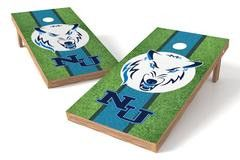 Northwood University Timiberwolves Single Cornhole Board - Field