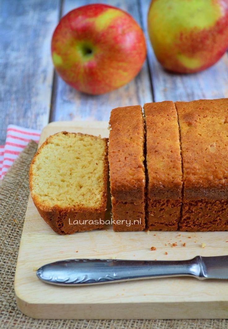 Appelmoescake - Laura's Bakery - maken met 125 gram kant-en-klare appelmoes ipv zelf maken.