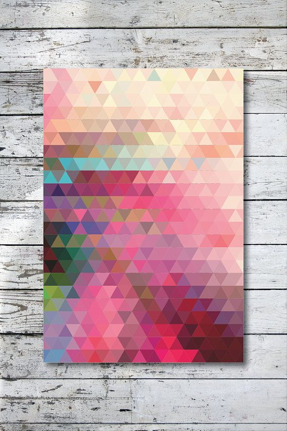 Geometric by angelaferrara Oh I love this..almost looks like a woven design. I'm inspired to paint something similar :)     www.lilicabena.com  Artwork & Textiles for the Home