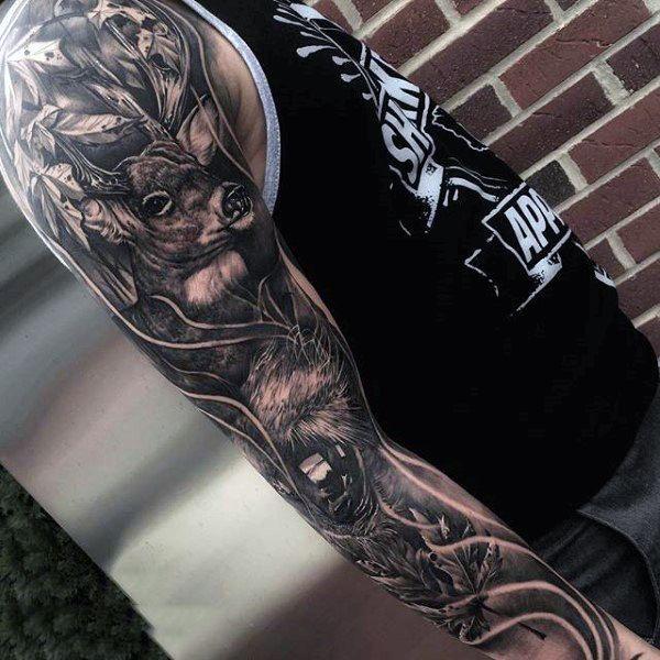 Best 25 Wolf Tattoo Sleeve Ideas On Pinterest Wolf Sleeve Forest Tattoo Sleeve And Animal