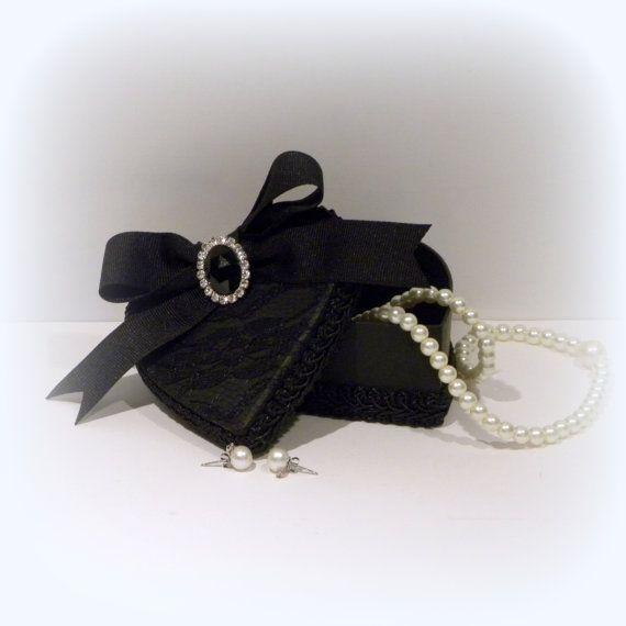 Black Gift Box, Heart Gift Box, Jewelry Gift Box, Engagement Ring Box, Jewelry Box, Trinket Box, Keepsake Box, Ring Box, Romantic Gift Box