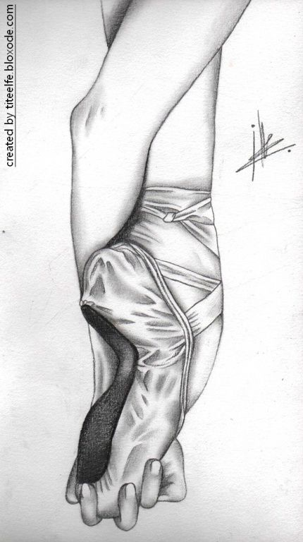 #Ballet #pointe #shoe    All my drawings on http://titeelfe.bloxode.com/