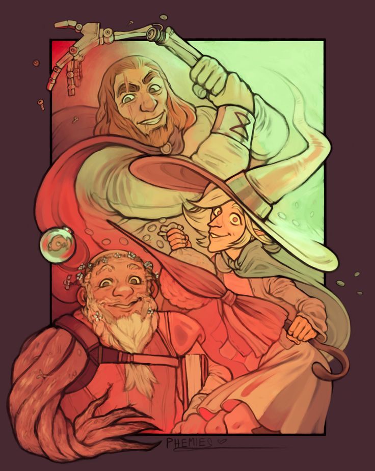 """phemiec: """" I've been marathoning The Adventure Zone and dang it's a blast and a half. I'm not sure if these are actually my headcanons but it's what came out of my drawing hand so here you go."""