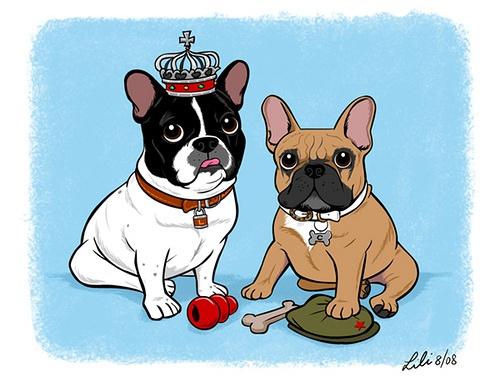 French Bulldogs, by Lili Chin's Illustration