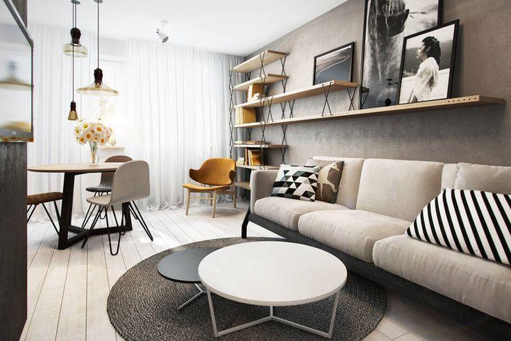 Apartemen 43 m² Menawan dalam Balutan Monokrom!