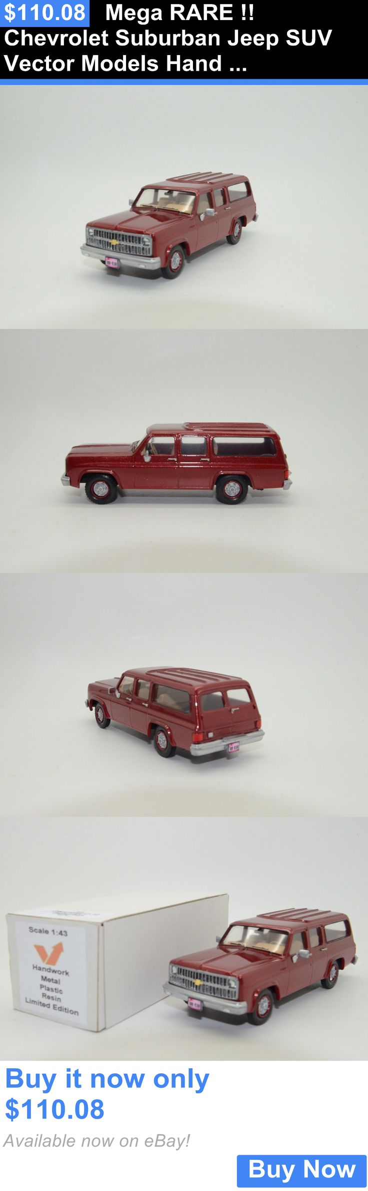 SUVs: Mega Rare !! Chevrolet Suburban Jeep Suv Vector Models Hand Made 1/43 BUY IT NOW ONLY: $110.08