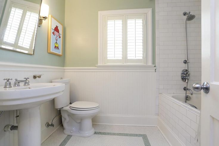Alluring Subway Tile Beadboard Bathroom On Inspiration