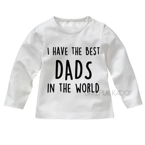 Shirt voor baby met twee papa's