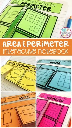 This area and perimeter interactive notebook is perfect for math centers or guided math groups. Students will practice skills such as word problems, area and perimeter of rectangles and area and perimeter of irregular shapes. This is perfect for 3rd and 4th grade!