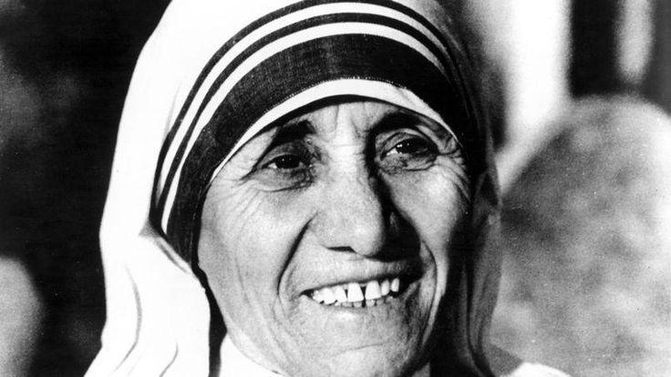 La religieuse Mère Teresa, fondatrice de la congrégation des Missionnaires de la Charité.