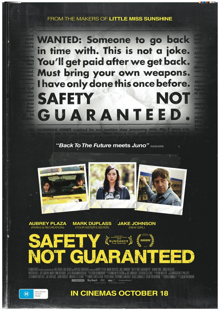 Safety Not Guaranteed Film Review Film review, Comedy