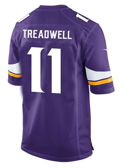 Youth Laquon Treadwell Minnesota Vikings Nike Home Purple Game Jersey
