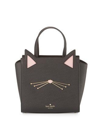 Kate spade new york jazz things up hayden small cat tote bag, black http://amzn.to/2k2HTMQ