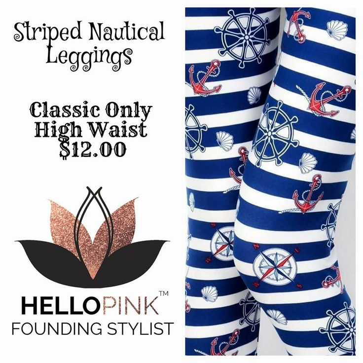 Find these and more at https://ladyl.hellopink.com #HelloPinkByLadyL #LadyLSales #Nautical #Leggings
