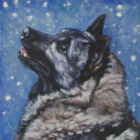 Hey, I found this really awesome Etsy listing at https://www.etsy.com/listing/195852465/norwegian-elkhound-dog-art-portrait