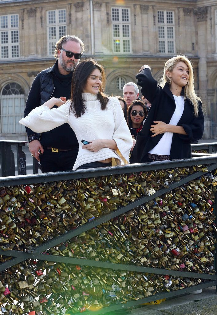 Kendall Jenner and Gigi Hadid Put Their BFF Love on Lock in Paris
