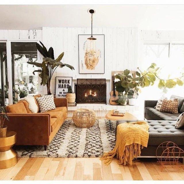 Work Hard Print In 2020 Boho Living Room Farm House Living Room Living Room Designs
