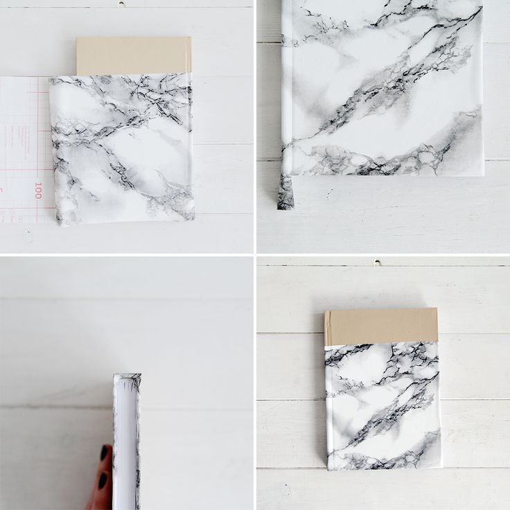 Take Note With This Stylish DIY Marbled Notebook via Brit + Co.