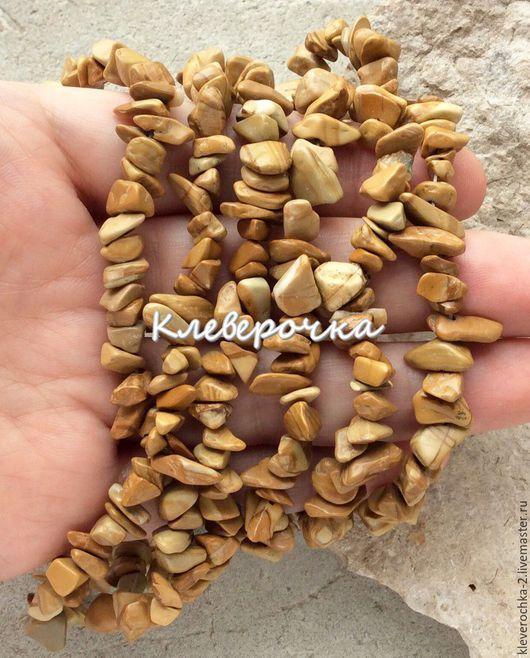 Для украшений ручной работы. Ярмарка Мастеров - ручная работа. Купить Яшма деревянная  нить 40 см крошка каменная бусины камни д.украшений. Handmade.