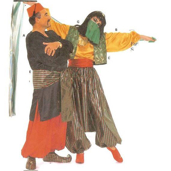 b51f1df52a Oriental Arabian Nights Sultan Princess Unisex Fancy Dress Costume ...