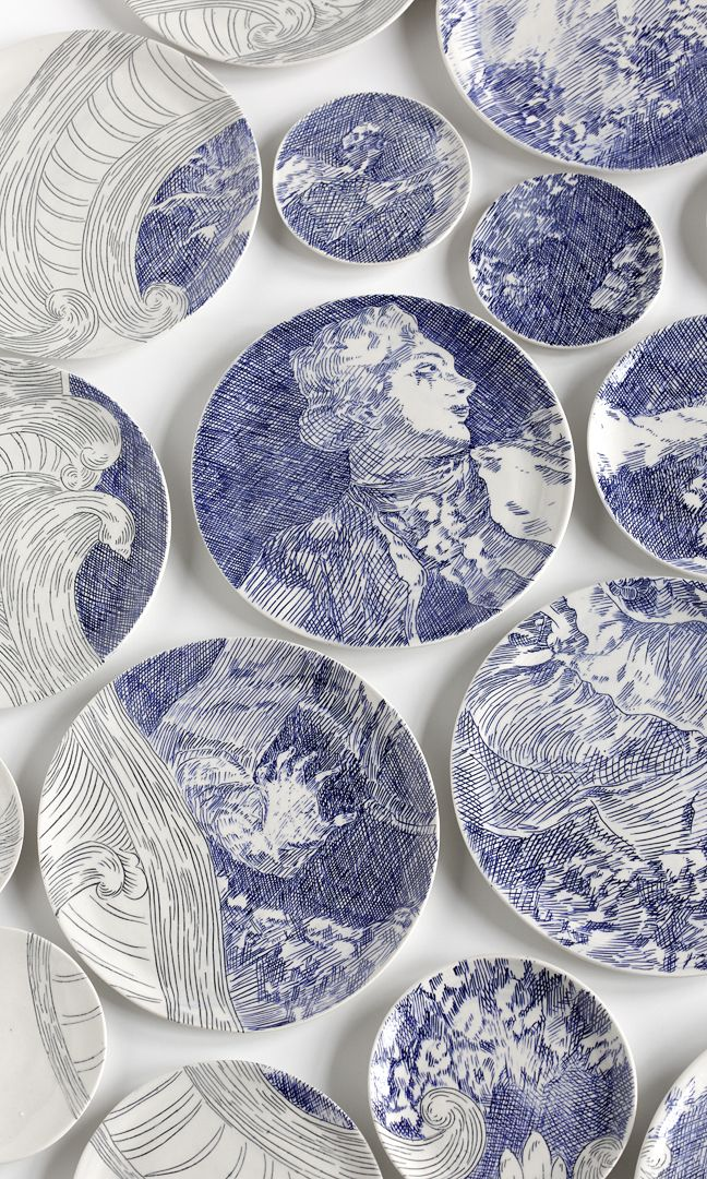 Beautiful Mosaics Made from Painted Ceramic Plates by Molly Hatch - My Modern Met