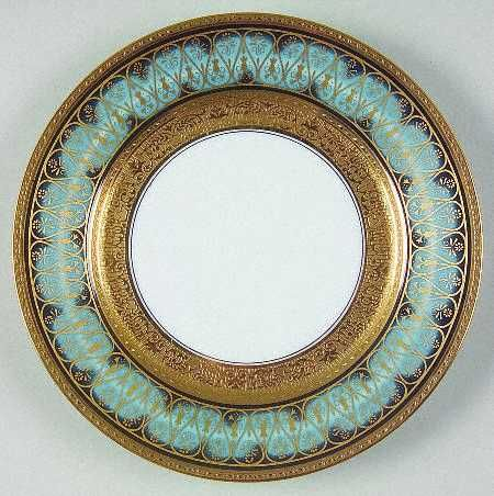 Golden Fire  china pattern with turquoise blue rim u0026 ornate gold scroll trim from : china dinnerware patterns - pezcame.com