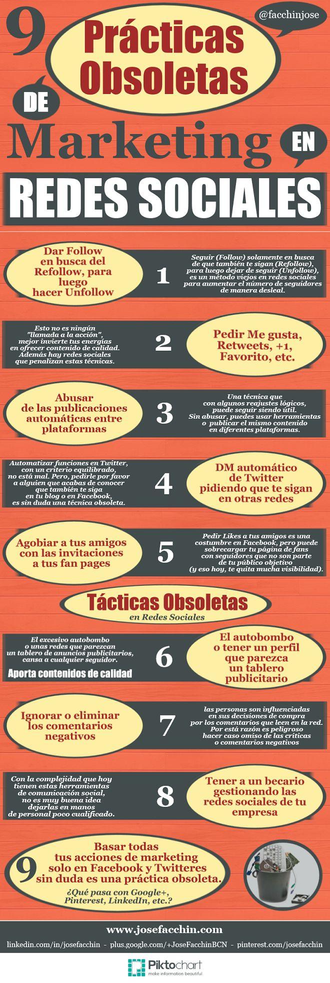 9 prácticas obsoletas del Marketing en Redes Sociales #socialmedia #communitymanager #marketing