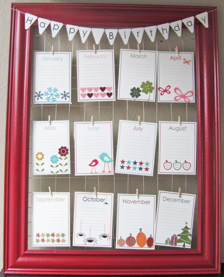 birthdays, anniversaries, important dates kept here ~ LOVE this idea!! Keeps everything in plain view ~ NO searching :o/  ~ AND this can be adapted to your 'style' & color theme ❤