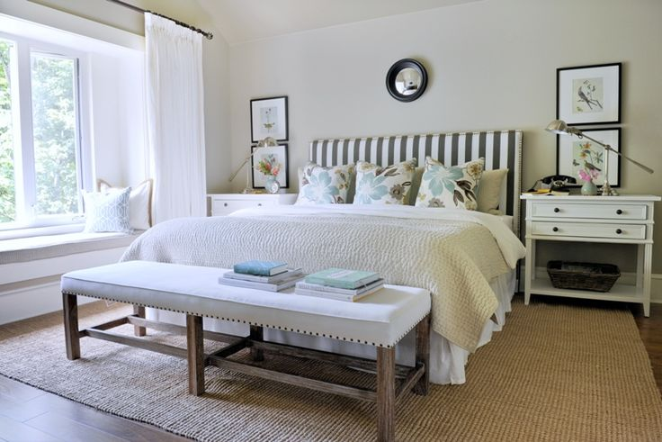 really like this room: Day Beds, Bedrooms Design, Traditional Bedrooms, Barns Owl, Master Bedrooms, Guest Rooms, Window Seats, Bedrooms Ideas, Stripes Headboards