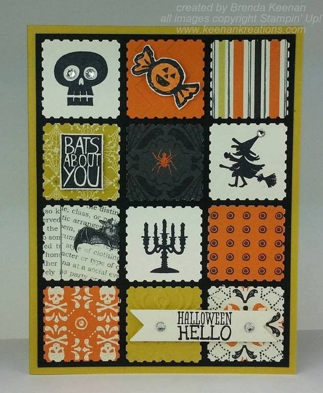 halloween card created with stampin up postage stamp punch from brenda keenan 13oct2013 - Stampin Up Halloween Ideas