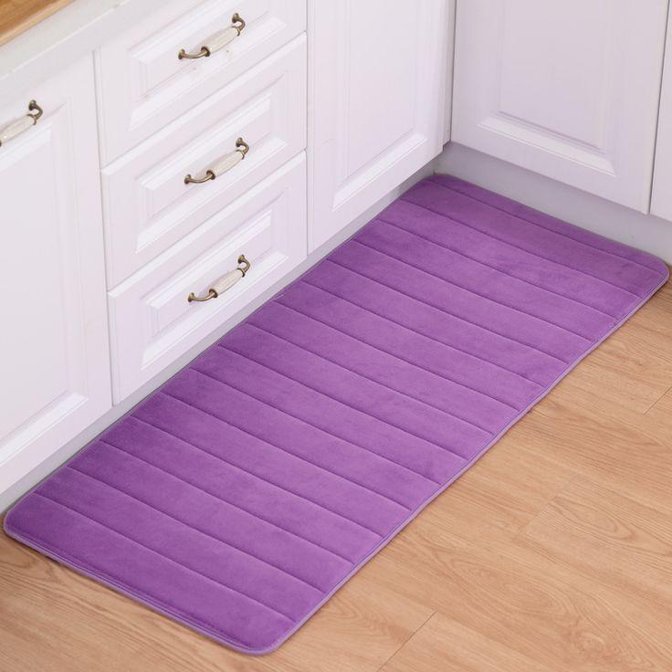 50*80cm Strip Rug Purple Colour Runner Carpet Polyester Fabric Rectangle Floor Mat For Kitchen Mats High Quality Modern Rugs