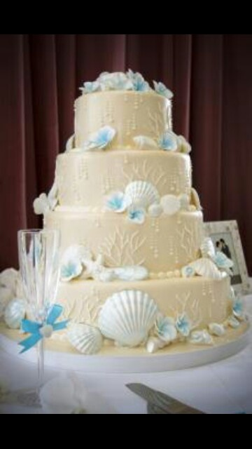My beach wedding cake