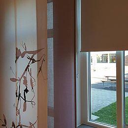 Uppåkraskolan, Hjärup: Gardiner og akustikløsninger, design Lathyrus og Traces of Yellow