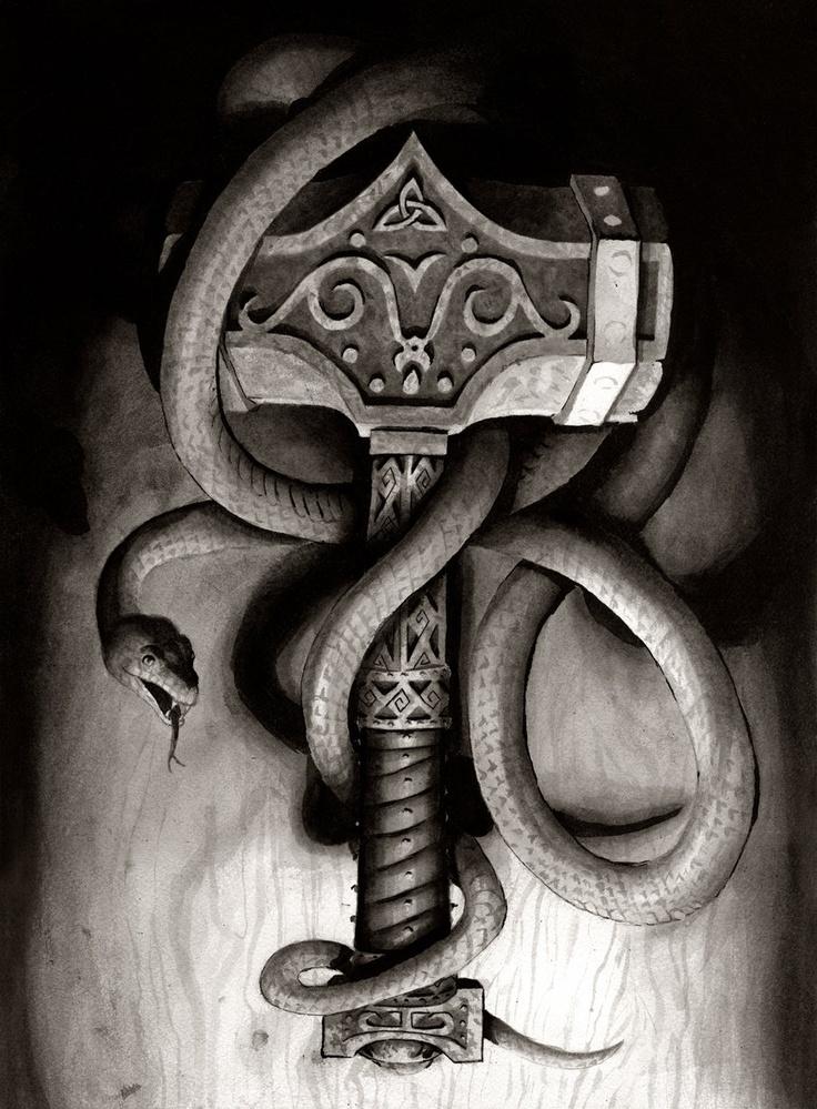 1000 ideen zu thor hammer tattoo auf pinterest geniale tattoos wikinger kunst und wikinger. Black Bedroom Furniture Sets. Home Design Ideas