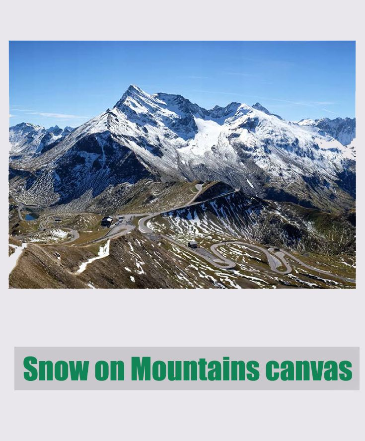 Amazing scenario of Snow on Mountains! Wall art canvas from Darlin NZ.