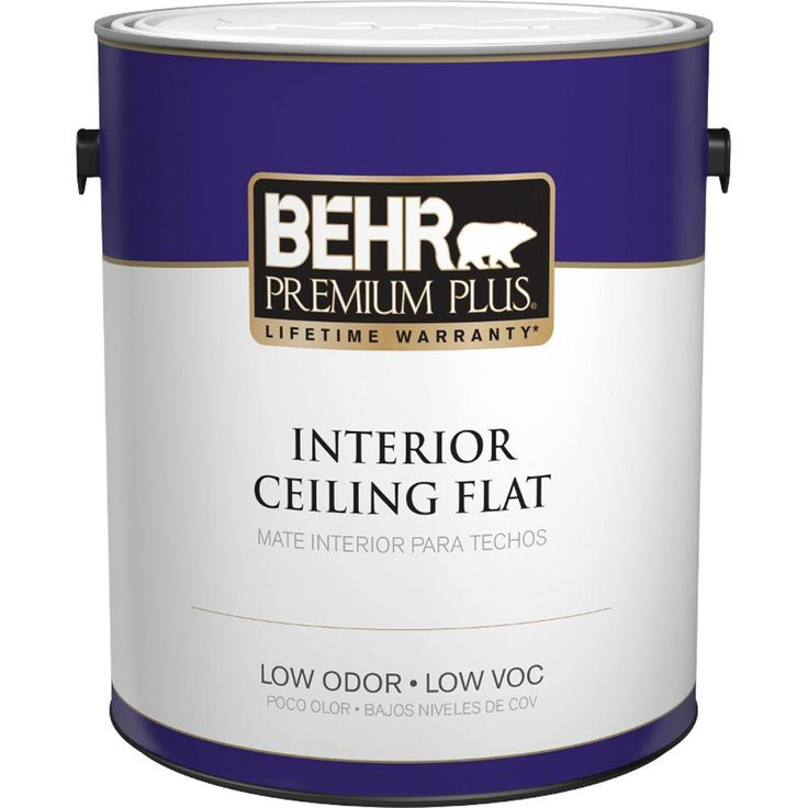 BEHR Premium Plus 1 gal. Flat Interior Ceiling Paint-55801 - The Home Depot