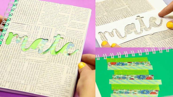 decoración-periódico-stencil-cuaderno