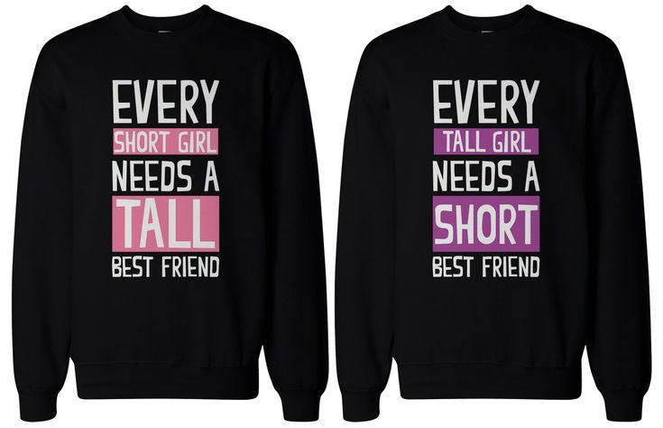 BFF Gifts - Tall and Short Best Friend Matching Sweatshirts for Best Friends by…