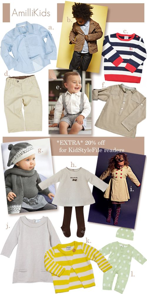 {New Store Alert} Amilli Kids For Lush European Kids Fashion: Up to 30% Off Sale + EXTRA 20% Off For KSF Readers + FREE Shipping Offer Too!Kidsfashion