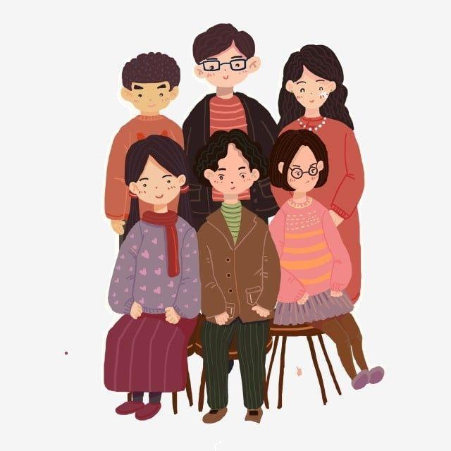 صورة كاملة عائلة كرتون شخصيات كرتون كاريكاتير عائلة الصورة كاملة كرتون عائلة Png وملف Psd للتحميل مجانا Family Cartoon Portrait Cartoon Family Clipart