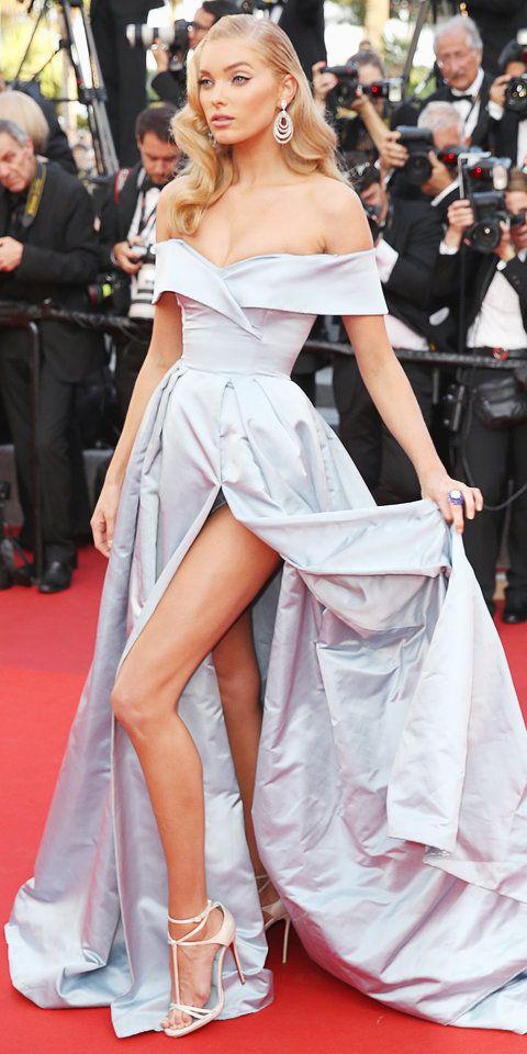 Victoria's Secret model Esla Hosk at Cannes.
